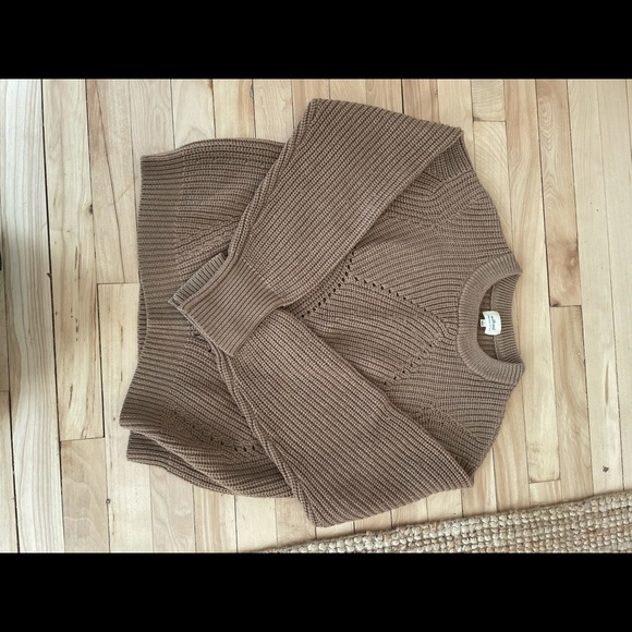 Wilfred wool light brown sweater size large.